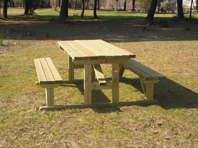 Taula de picnic Accessible